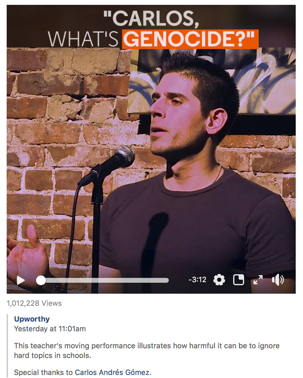 """What is Genocide?"" video tops 1,000,000 views"